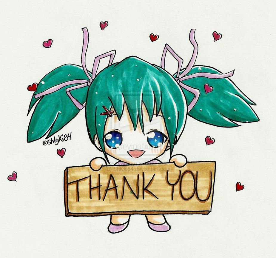 Картинки аниме спасибо за внимание