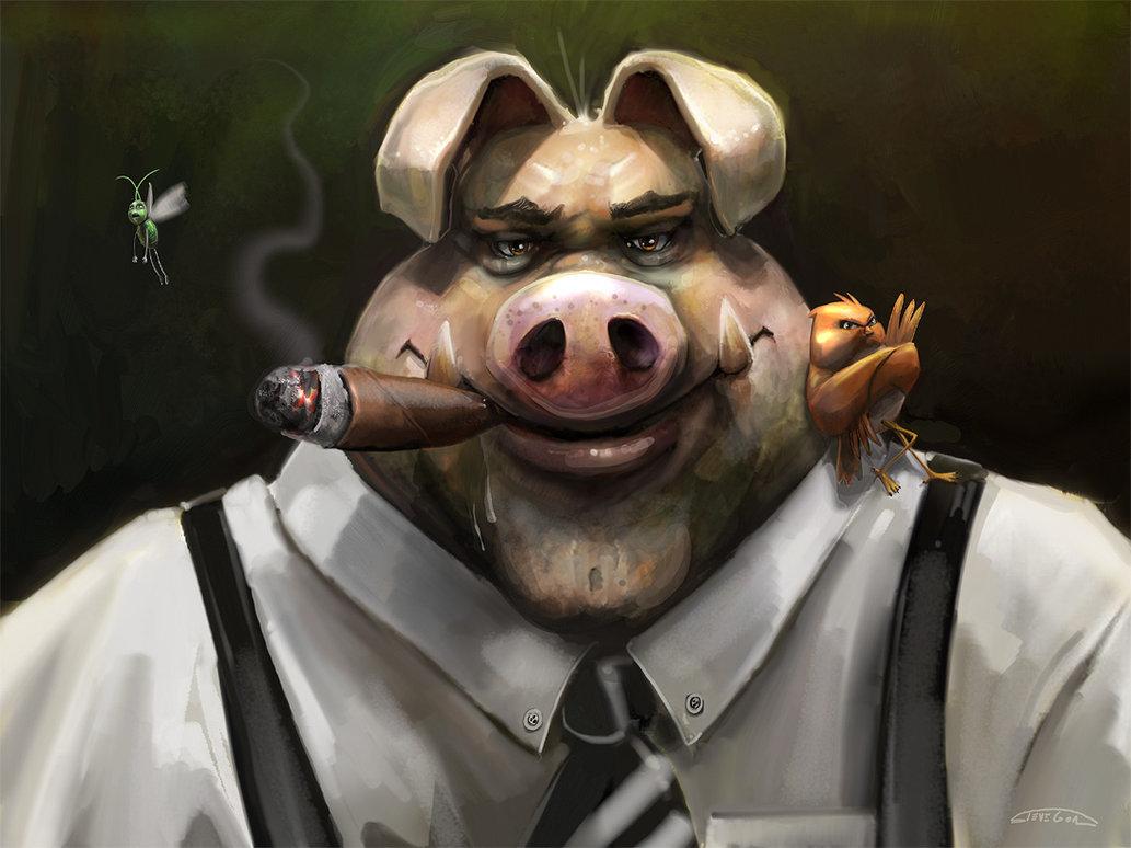 платят свинка с сигаретой картинки достаточно содержать